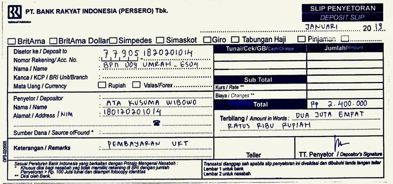 Tata Cara Pembayaran Ukt Universitas Maritim Raja Ali Haji Umrah